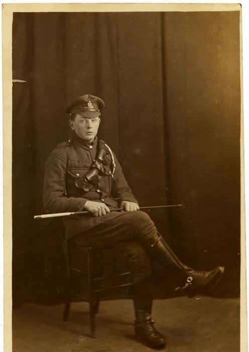 ADX/375/19 Studio photograph of a First World War soldier in uniform