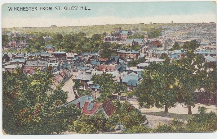 ADX/375/36 Postcard of Winchester from St. Giles' Hill