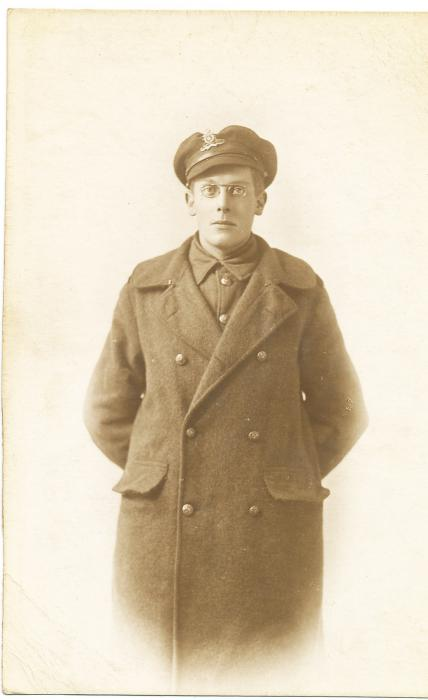 ADX/375/8 Studio photograph of a First World War soldier in uniform
