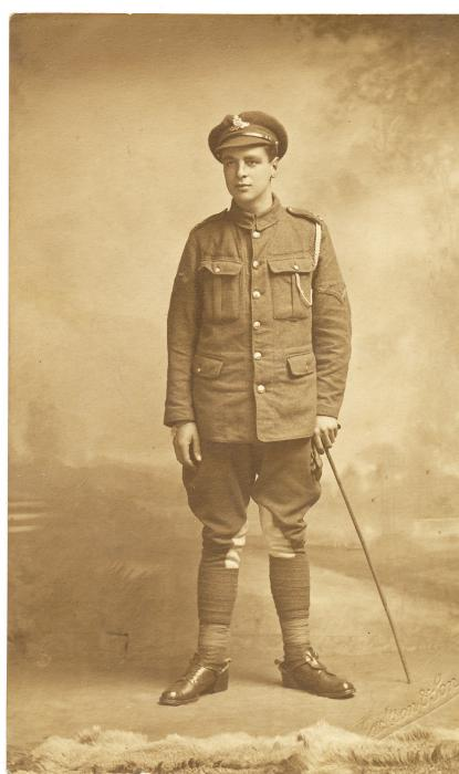ADX/375/9 Studio photograph of a First World War soldier in uniform